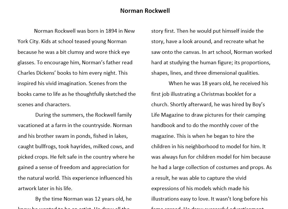 Norman Rockwell: Art History Lesson and Project