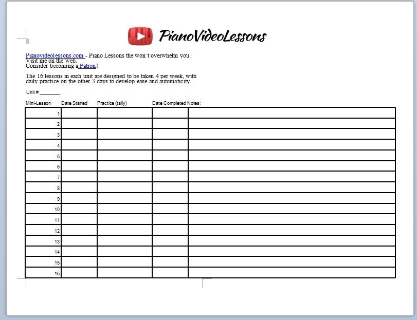 Year 1 Practice Sheet