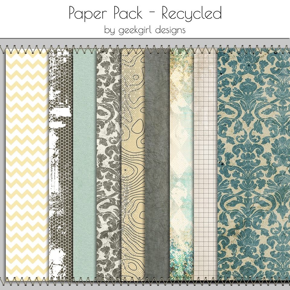 Recycled Paper Pack by geekgirl designs