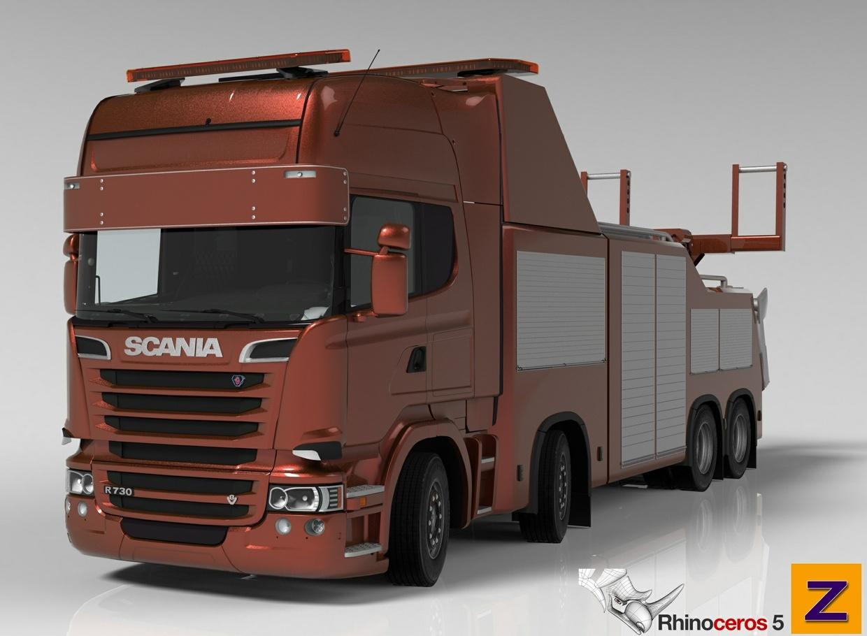 3D Scania Streamline R730 Recovery Model V2