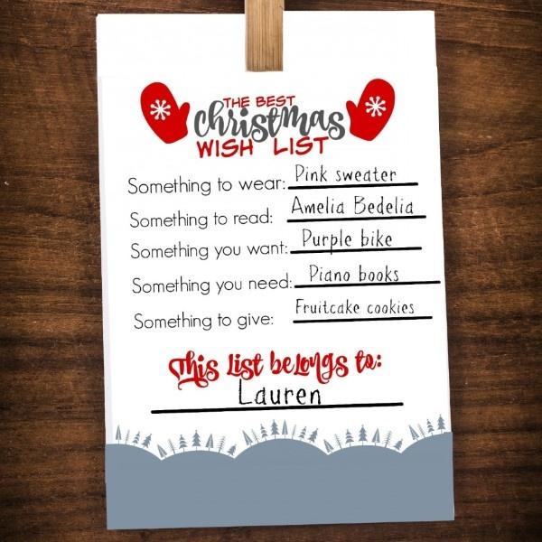 Best Christmas Wish List Printable