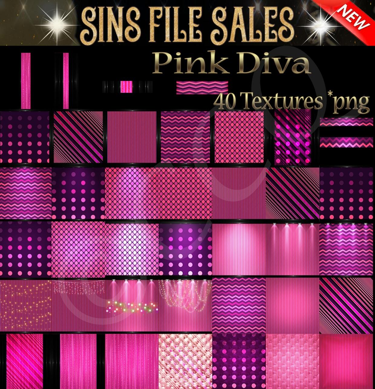 Pink Diva (40 Png)