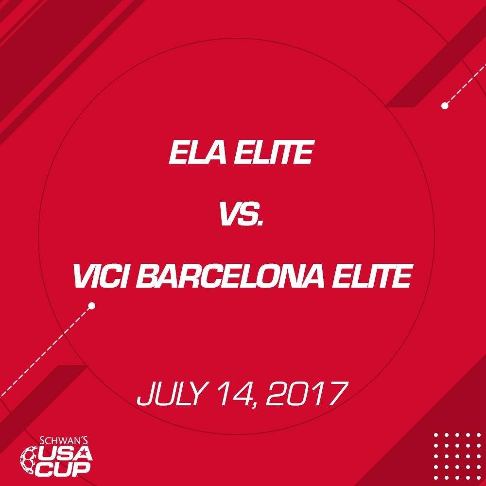 Boys U14 - July 14, 2017 - Ela Elite vs Vici Barcelona Elite