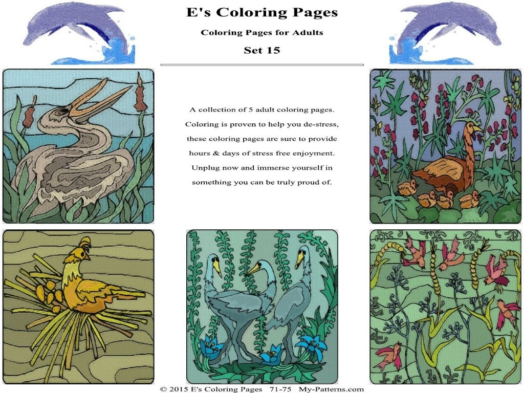 E's Coloring Pages - Set 15