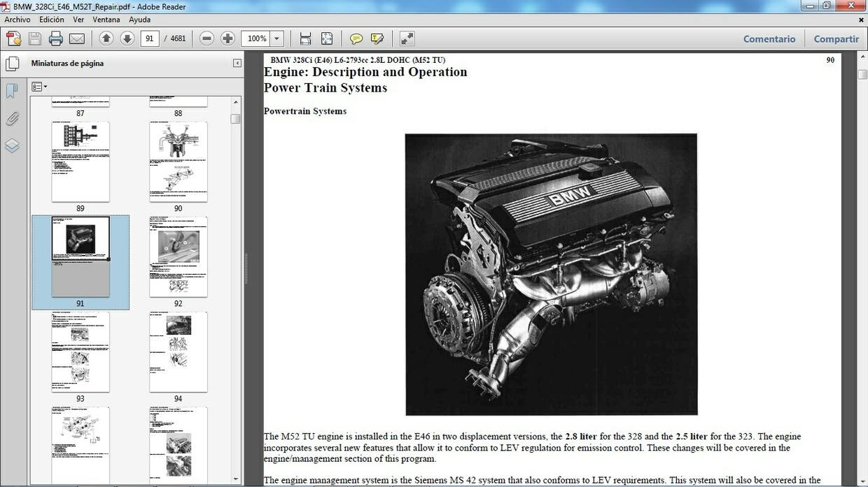 BMW 328Ci E46 Workshop Repair Manual - Manual de Taller