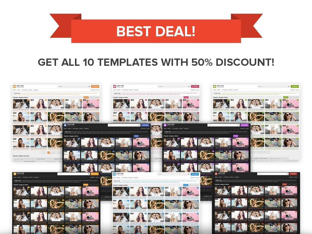 10 templates pack!