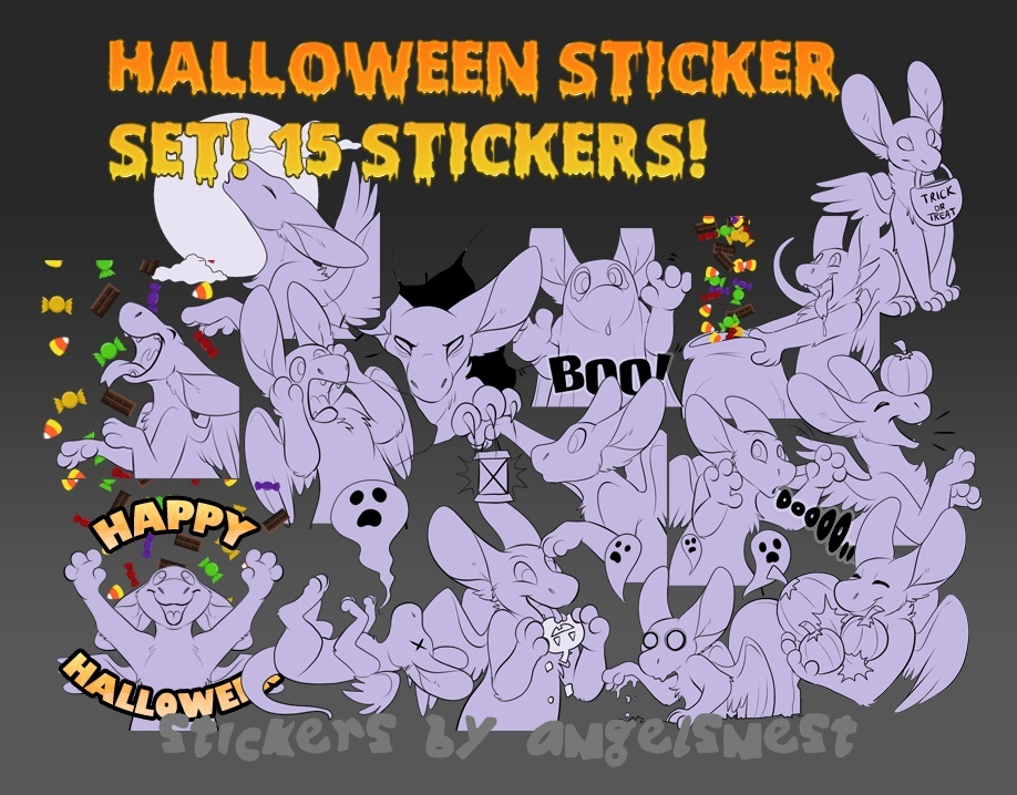 15 Halloween stickers for Dutchies!