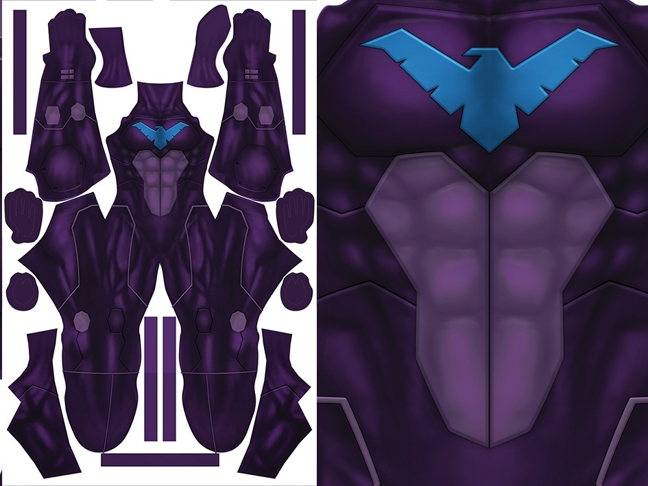 NIGHTWING (purple version) pattern file