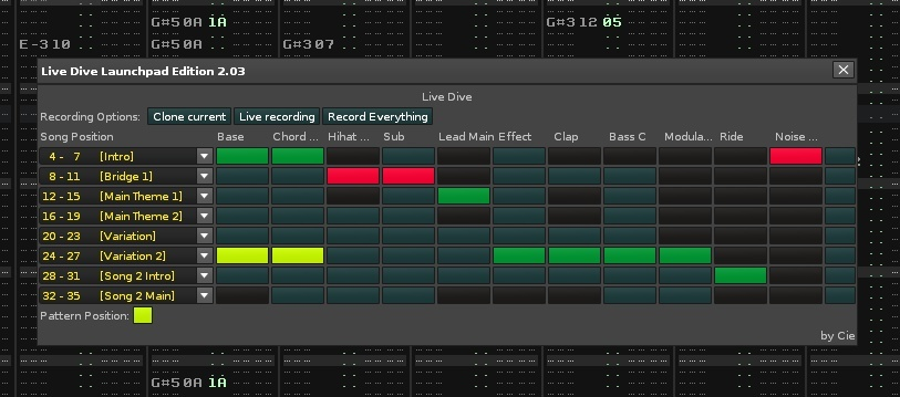 Live Dive Launchpad Edition for Renoise