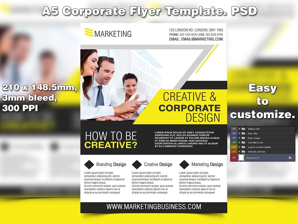 Creative Marketing Flyer Template (PSD)