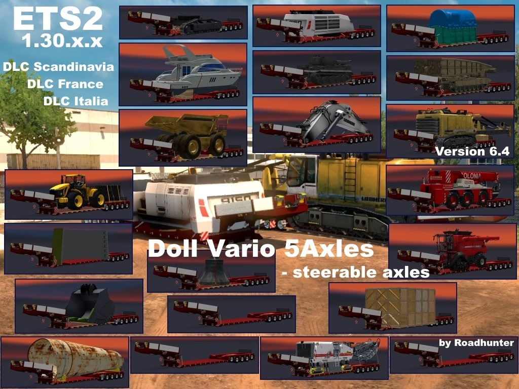 DOLL VARIO 5Axles Pack with 21 Cargos Version 6.4