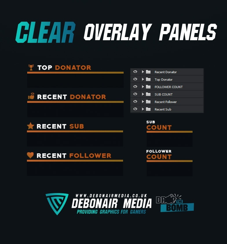 Clear Overlay Panels - Twitch