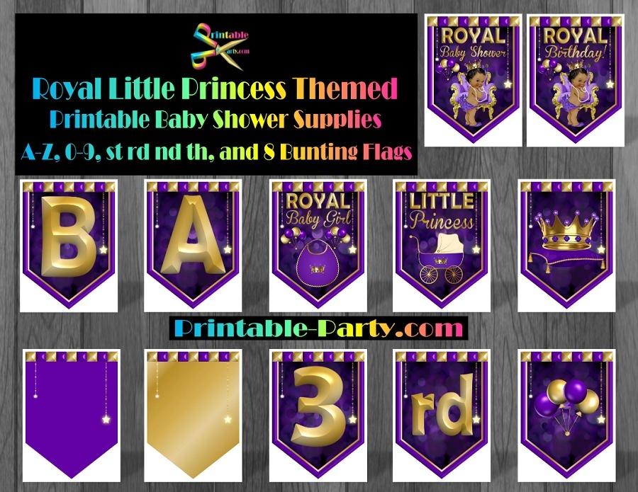 Royal Little Princess Printable Baby Shower Supplies