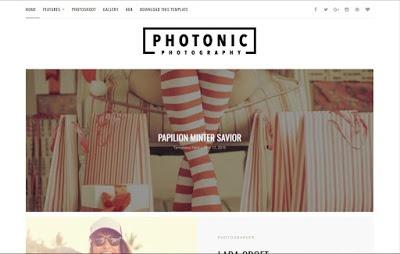 Photonic Blogger Template Premium Version