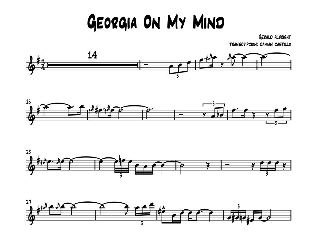 "Gerald Albright - ""Georgia On My Mind"" - Sax alto."