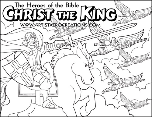 The Heroes Of The Bible Coloring Pages Christ The Kin