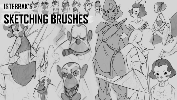 Istebrak's Sketching Brushes