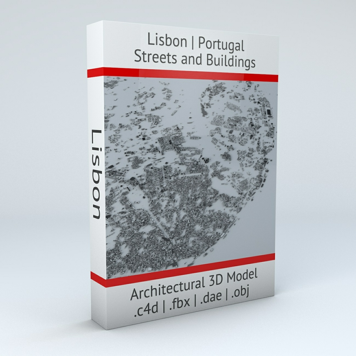 Lisbon Streets and Buildings Architectural 3D Model