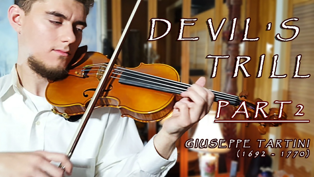 "Tartini Violin Sonata in G minor ""Devil's Trill Sonata'' Part 2"