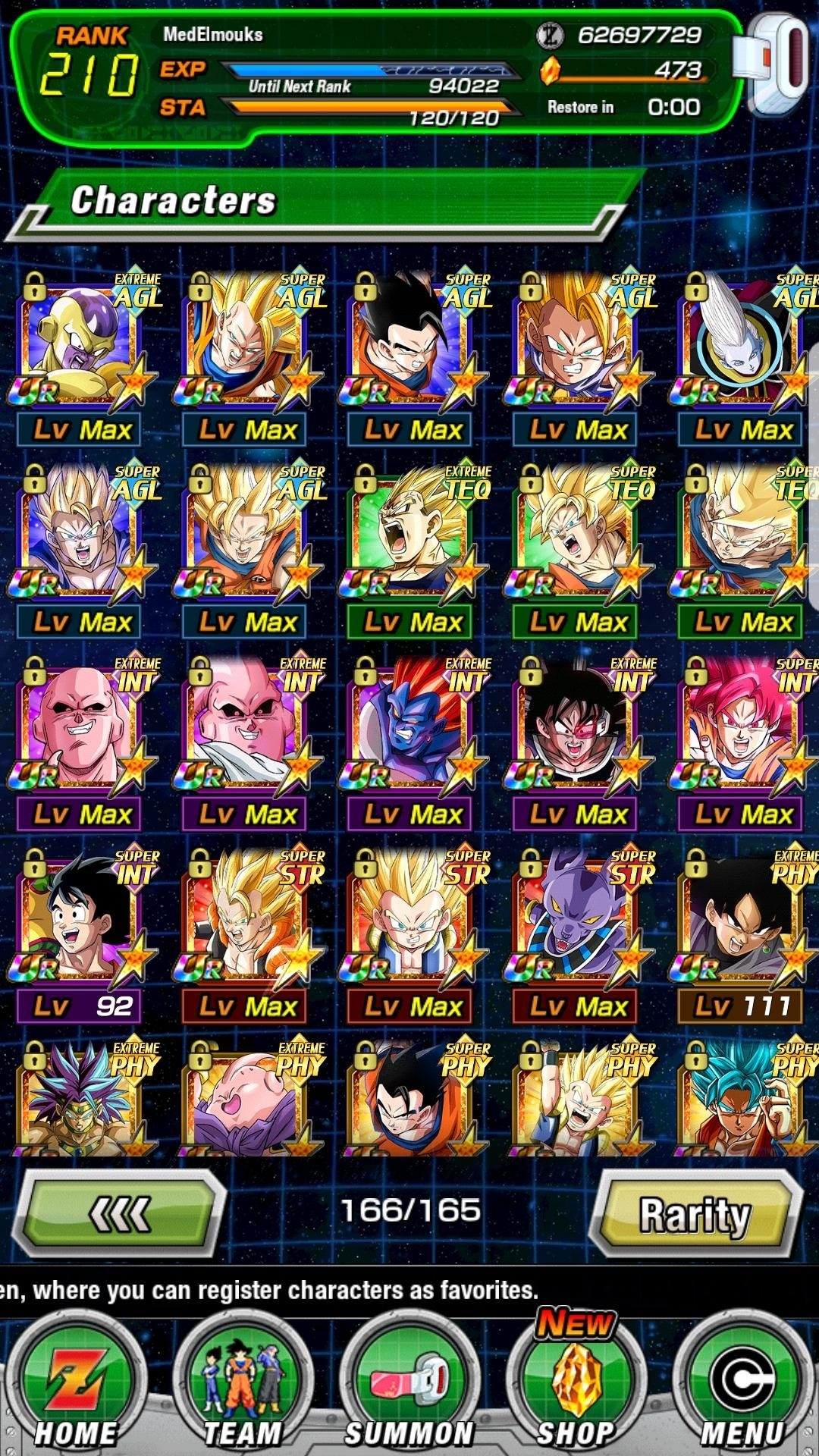[GLB]Lvl 210 account with a lot of SSRs and 473 stones