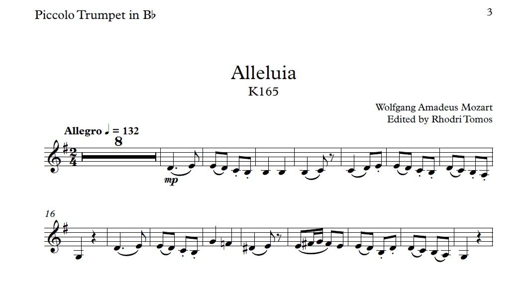 Mozart Alleluia K165 - play along sing along accompani