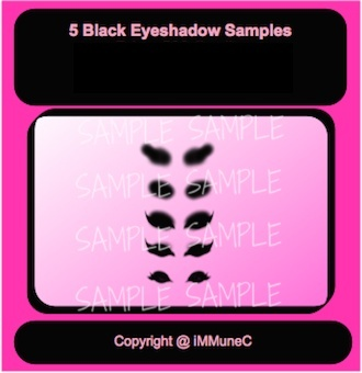 5 Black Eyeshadows Instant Makeup With Resell Rights