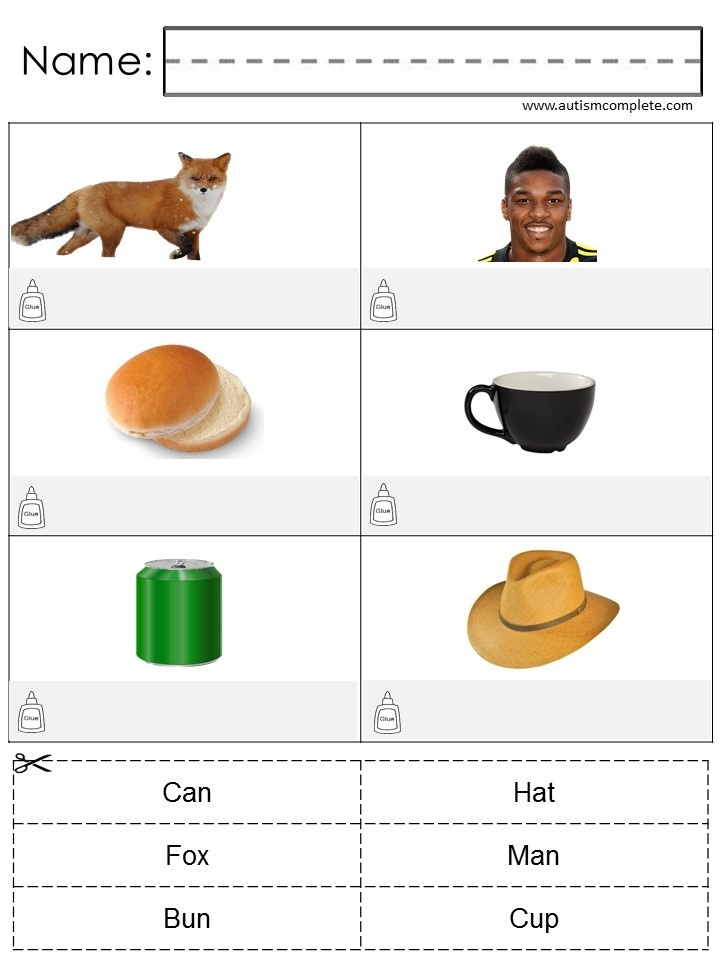 Match the Word to Picture (Lvl 1)