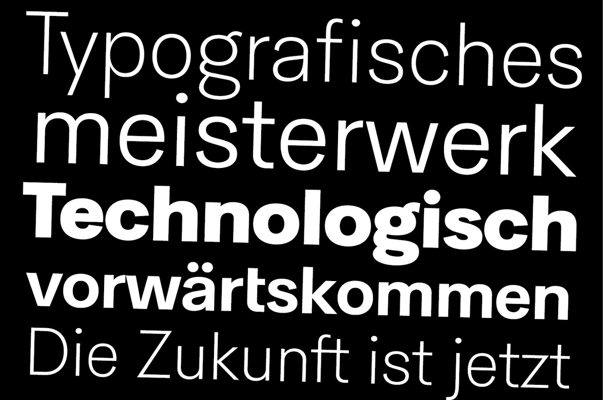 HK Concentrate Pro Typeface
