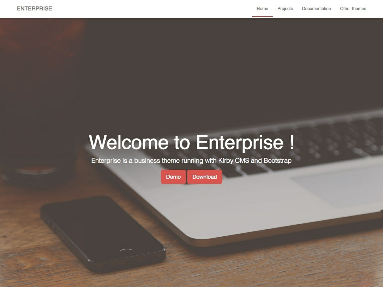 ENTERPRISE theme for Kirby cms
