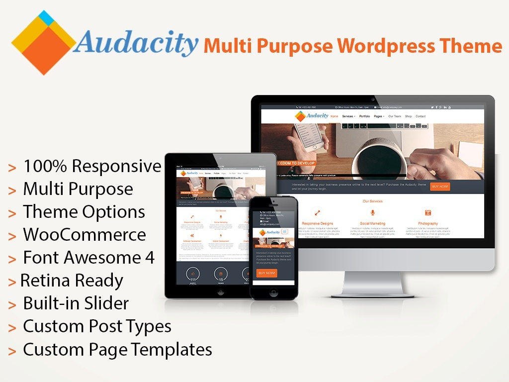 Audacity - Multi-Purpose Wordpress Theme