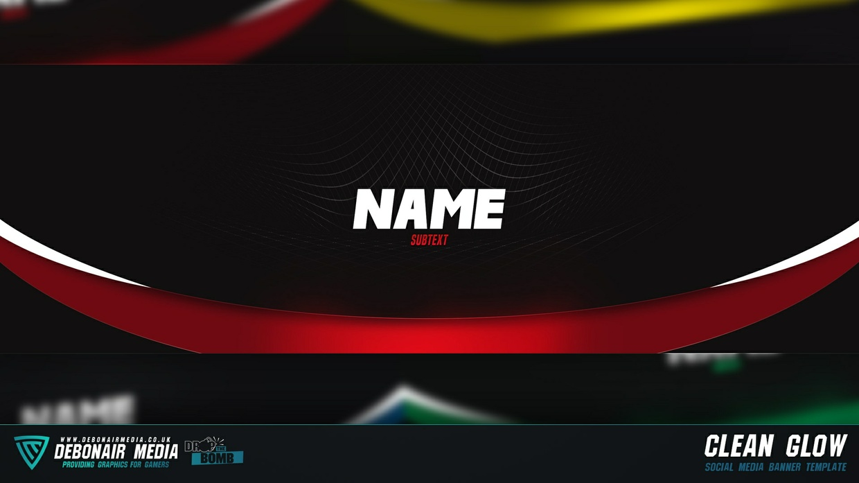 Clean Glow - Twitter Banner Template