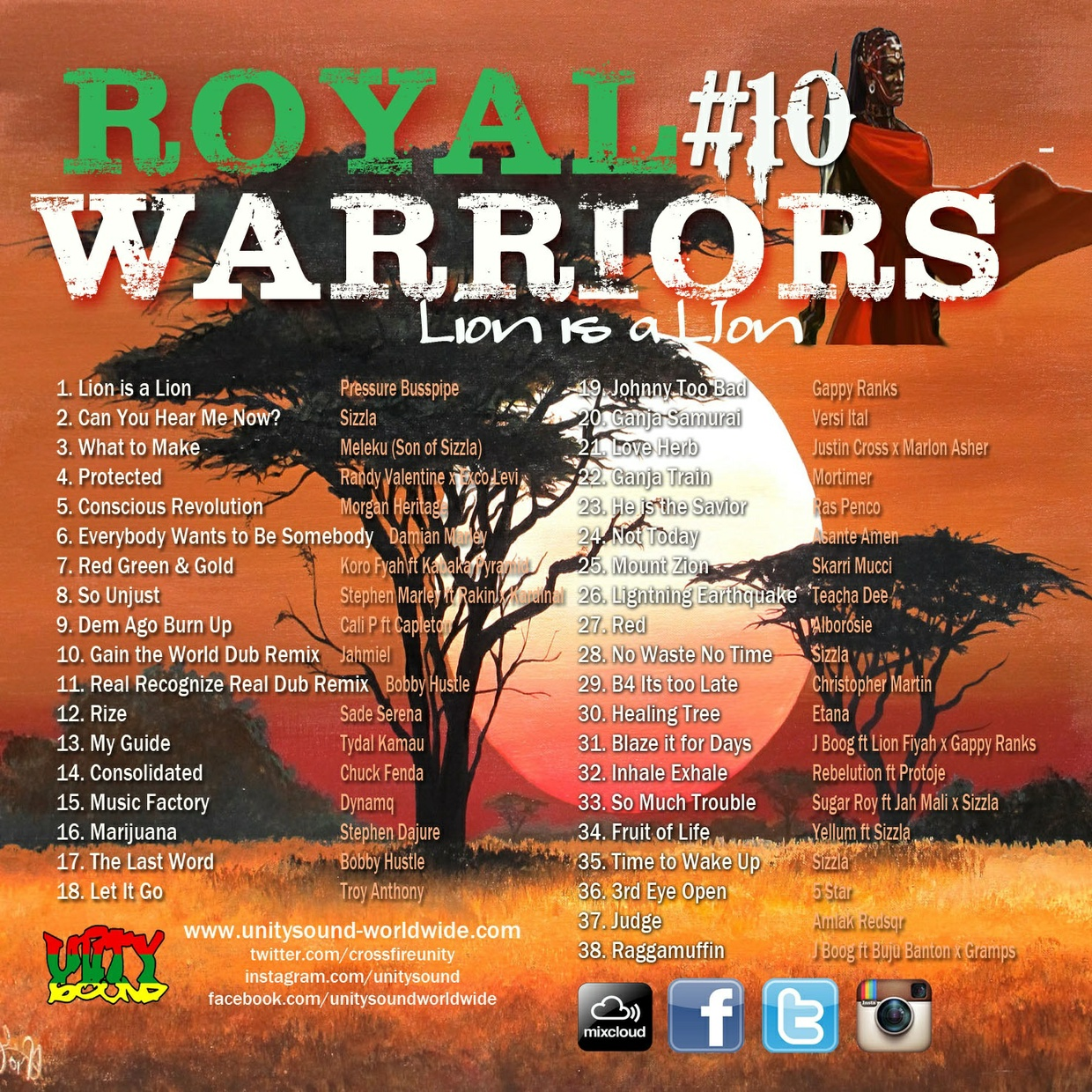 [Single-Tracked Download] Unity Sound - Royal Warriors 10 - Culture Mix Jan 2017