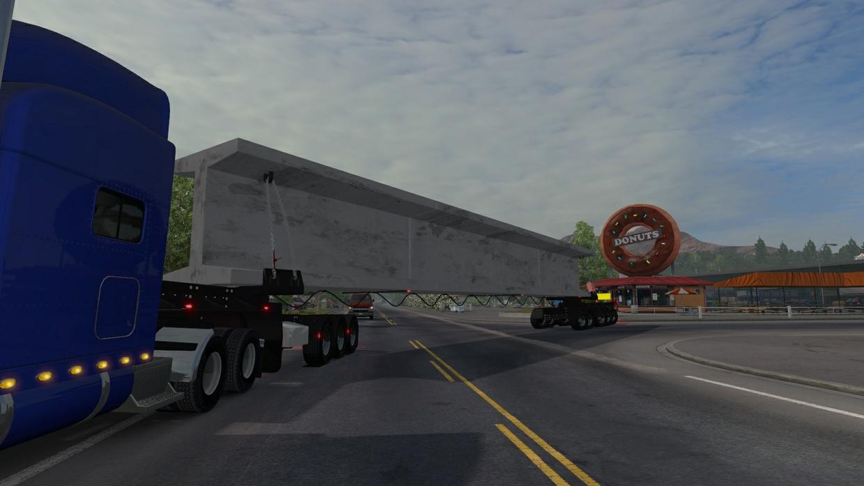 Beam trailer