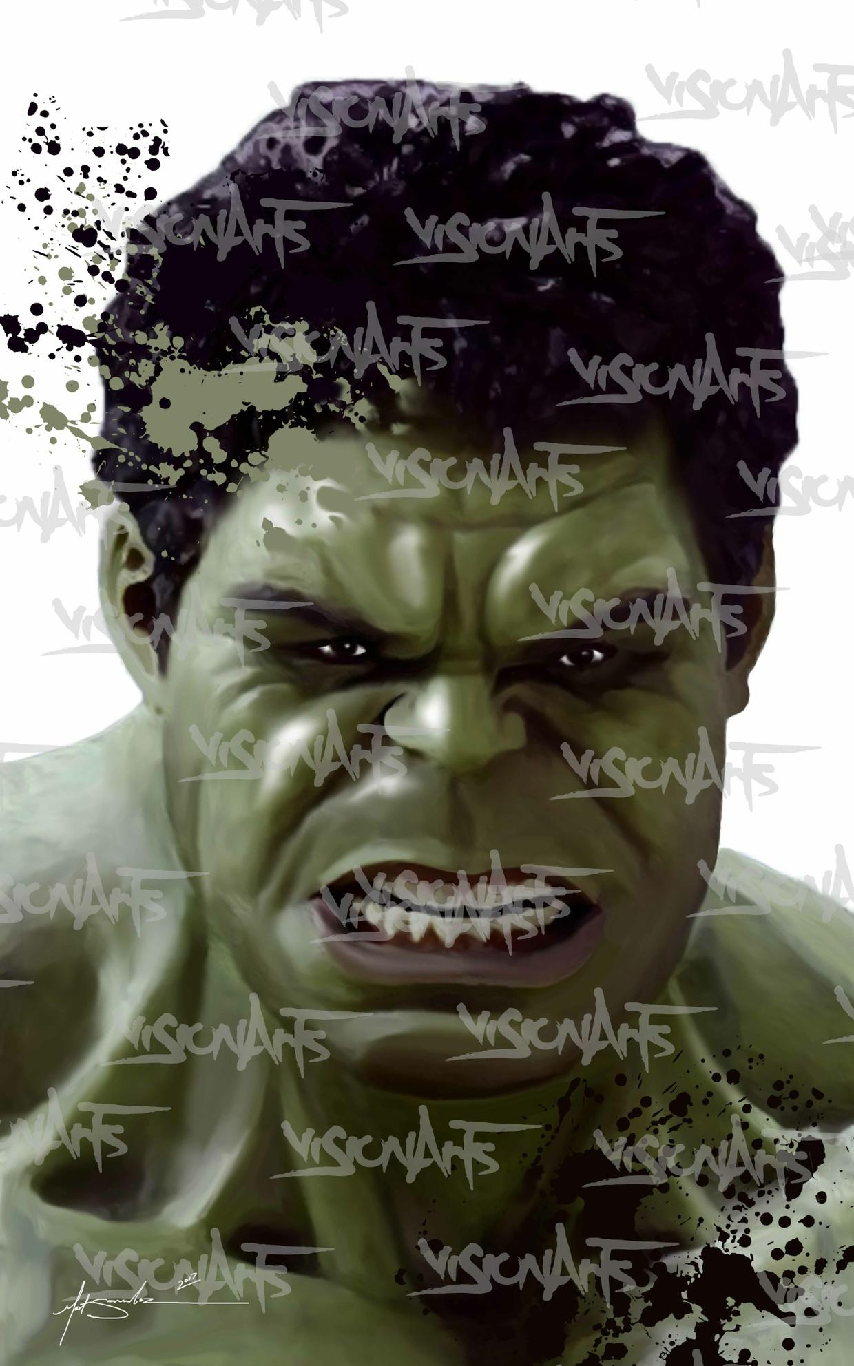 Hulk Art Poster