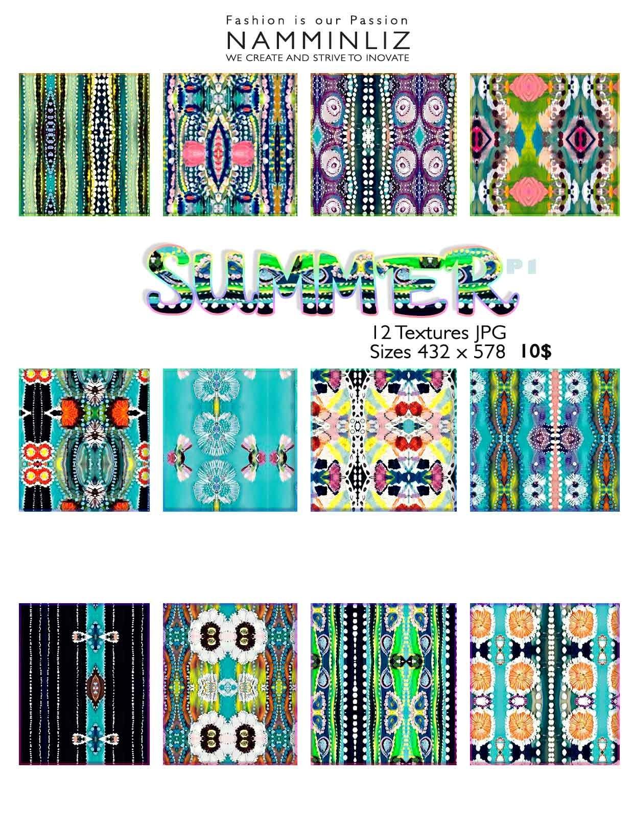 Summer Textures P1  • 12 Textures JPG imvu NAMMINLIZ
