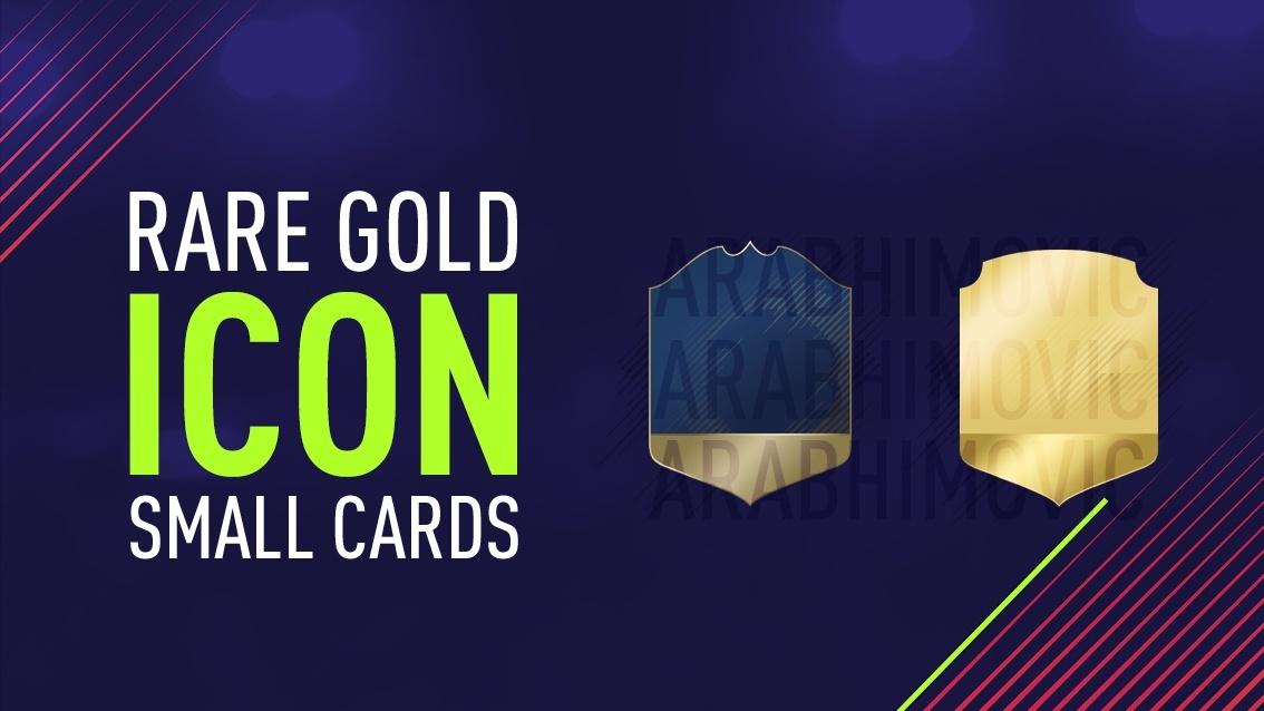 FIFA 18 Rare Gold and Icon Small Cards