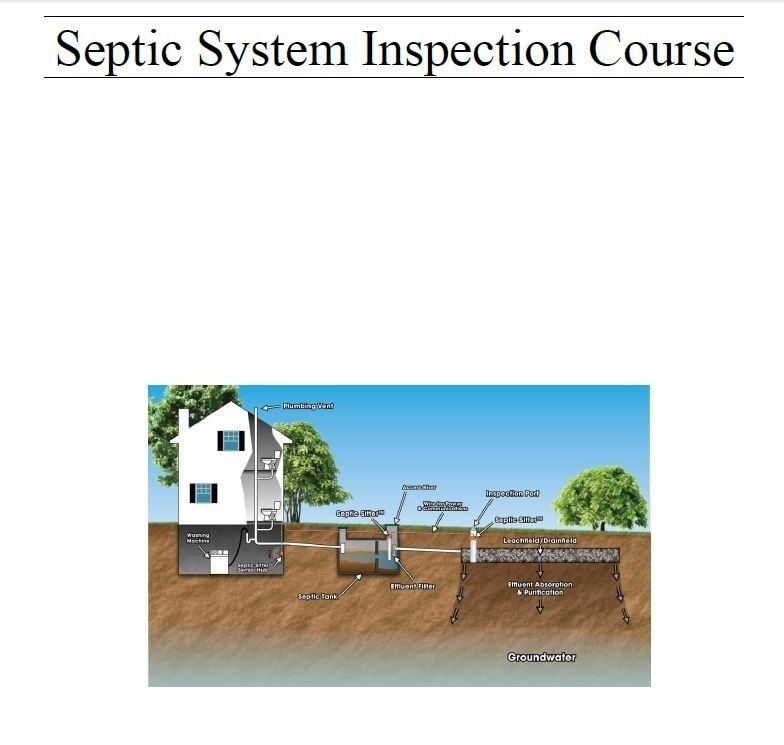 Septic System Inspection Cert Online Course E-Book Training