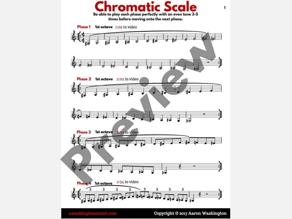 Chromatic Scale Practice Guide