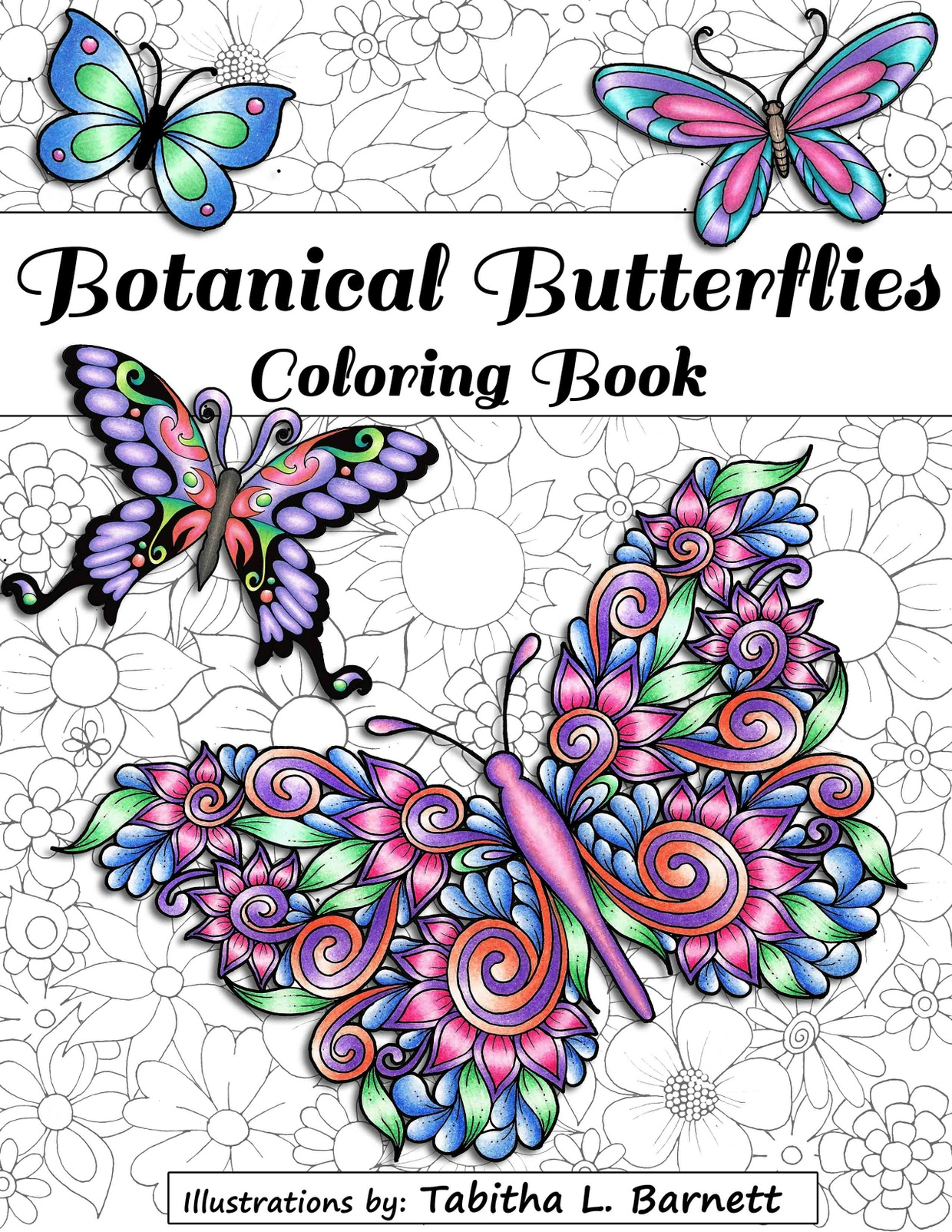 Botanical Art Coloring Book : Botanical Butterflies Coloring Book PDF (58 pages to p