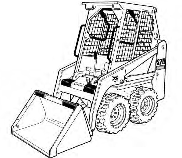 Bobcat S70 Skid-Steer Loader Service Repair Manual (S/N A3W611001 & Above A3W711001 & Above)