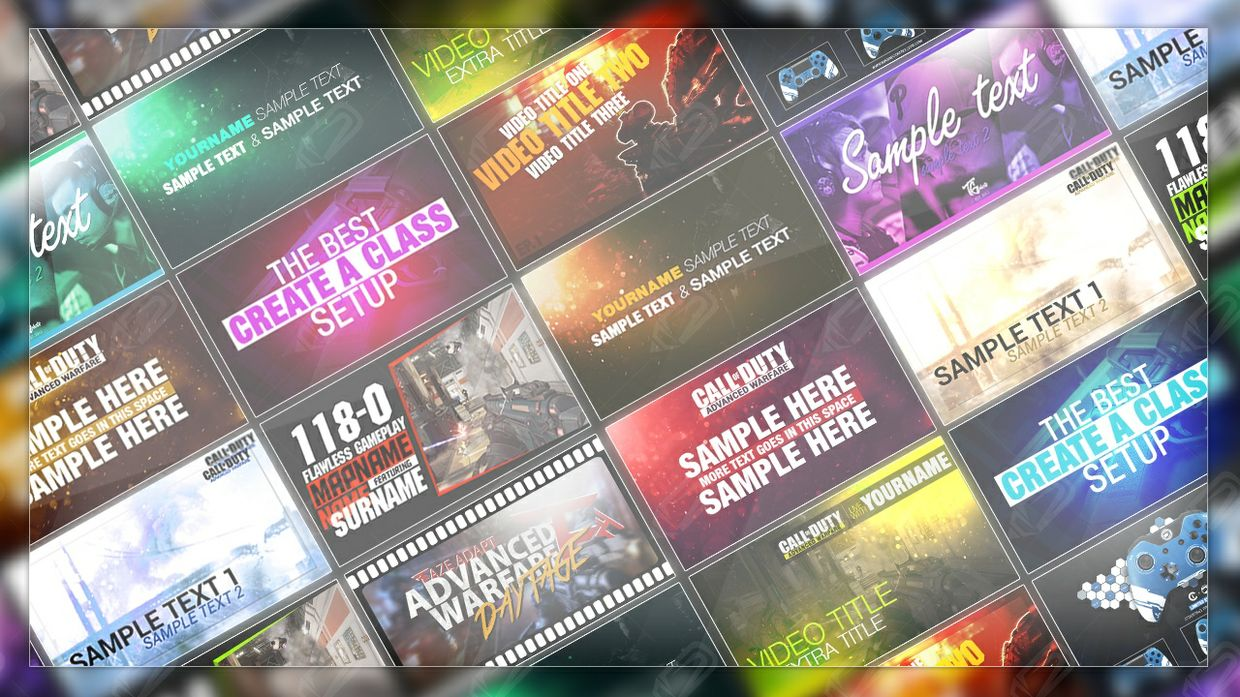 x10 YouTube Thumbnail Template PSD | Graphic Wizard - Sellfy.com