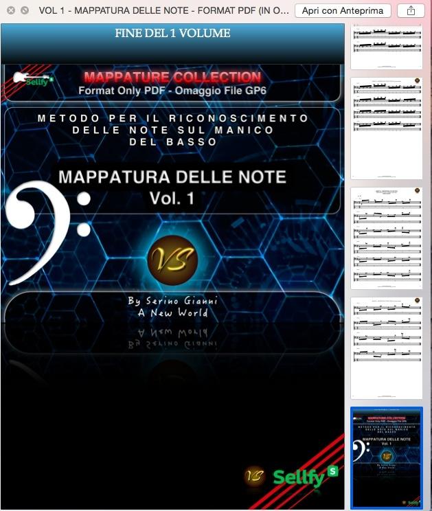 VOL 1 - MAPPATURA DELLE NOTE - FORMAT PDF (IN OMAGGIO FILE GP6)