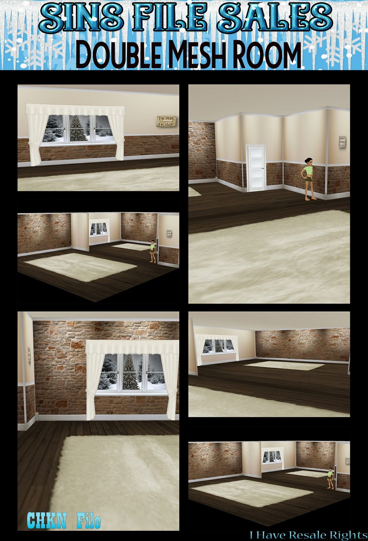 Room Mesh + Texture Pack (CHKN)