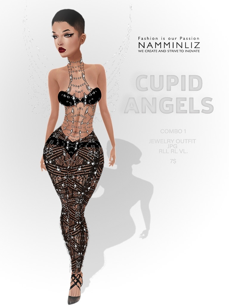 Cupid Angels combo 1 ( Outfit RLL, VL ) JPG textures