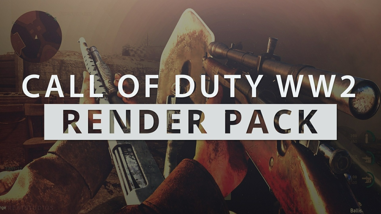 Call Of Duty World War 2 Render Pack - Free Edition ( COD WII)