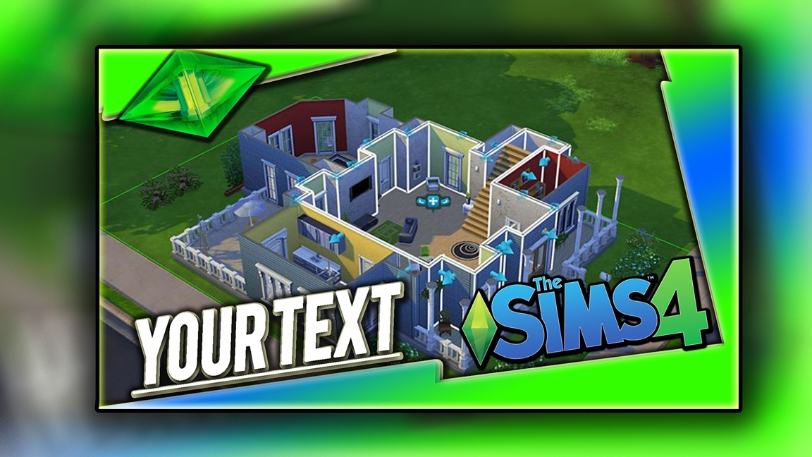 Sims 4 Thumbnail Template - PSD