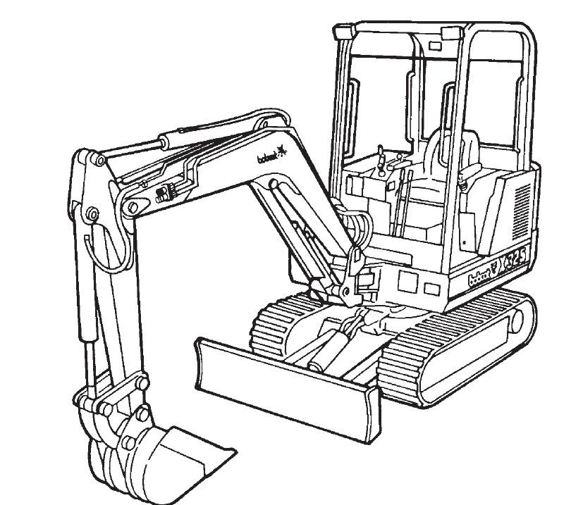 Bobcat 325 Excavator Service Repair Manual Download(S/N 511820001 & Above)