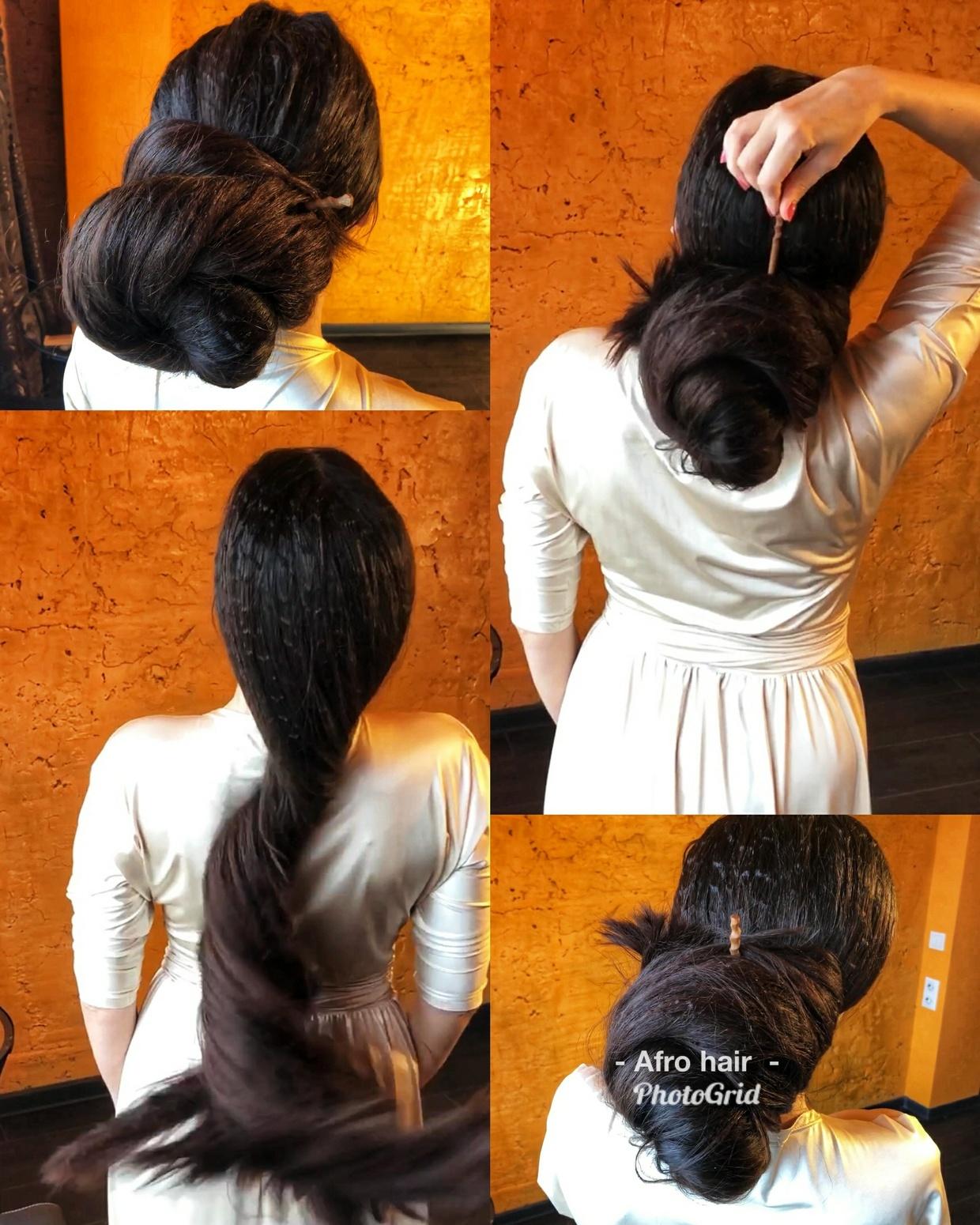 Afro hair, Big bun, bun drop, braid, ponytai, hair play - 20 minutes