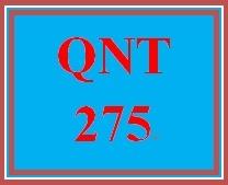 QNT 275 Week 4 Quiz