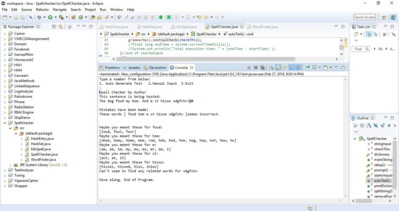 Spell checking program using hash tables Solution